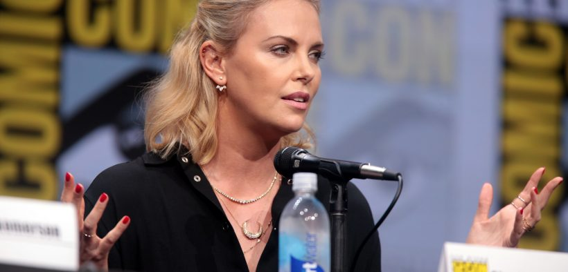 """Charlie Theron speaking at the 2017 San Diego Comic Con International, for """"Entertainment Weekly: Women Who Kick Ass"""", at the San Diego Convention Center in San Diego, California."""