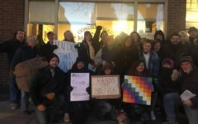 November 13 delegation organized to protest the November 10 Bolivian coup. (Photo: Gabrielle della Croce)