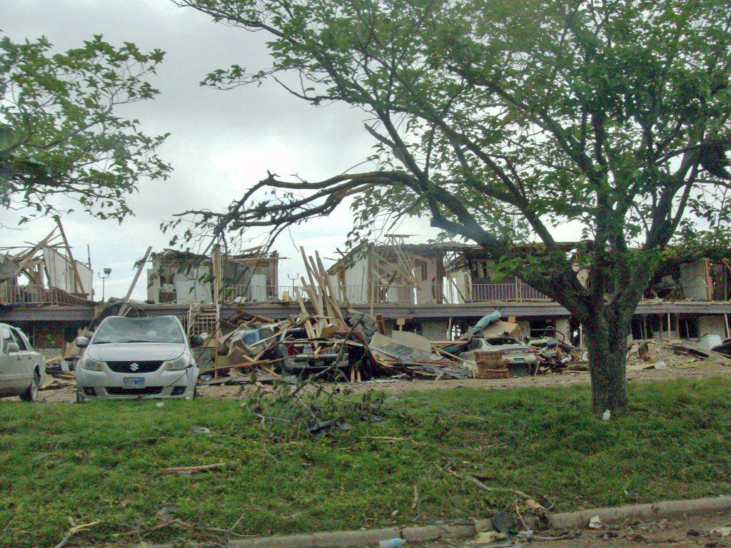 This apartment complex was completely destroyed in the fertilizer explosion to impacted West, Texas residents on April 17, 2013. The apartment complex was located accros the street from the fertilizer plant that exploded.