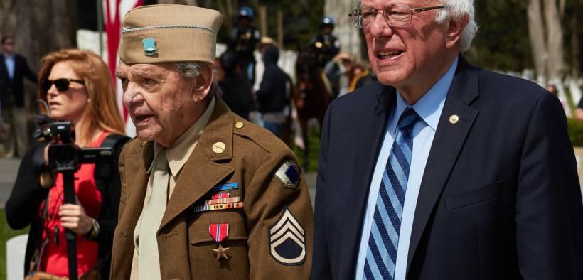 Bernie Sanders at the 2016 Memorial Day Ceremony, Presidio of San Francisco, California, United States