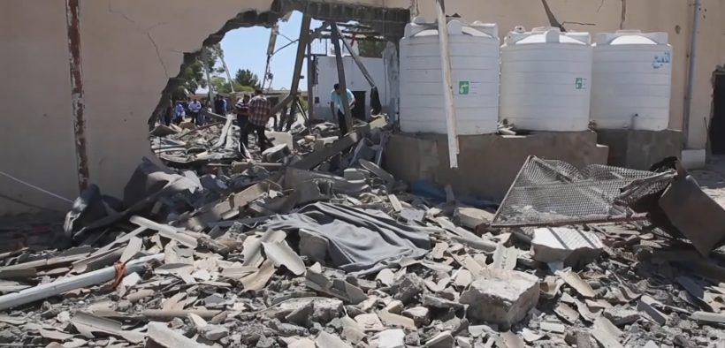 The Tajoura migrant camp after being hit by an airstrike in July of 2019.