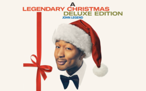 Cover photo of John Legend's Legendary Christmas album which features a remake of the holiday classic, Baby it's Cold Outside, with guest singer Kelly Clarkson.