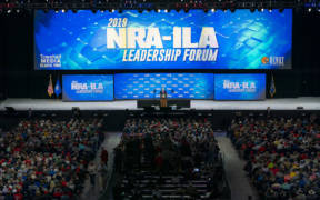 President Donald J. Trump addresses his remarks Friday, April 26, 2019, at the National Rifle Association annual convention in Indianapolis, Ind. (Official White House Photo by Tia Dufour)