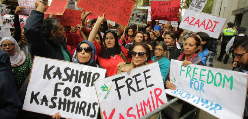 National demonstration for Kashmir at the Indian High Commission, London 10th August 2019.