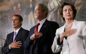 John Boehner, Nancy Pelosi, George Walker Bush.