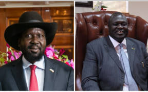 Salva Kiir, left, and Riek Machar, right. (Photos: U.S. Department of State and VOA, Hannah McNeish)