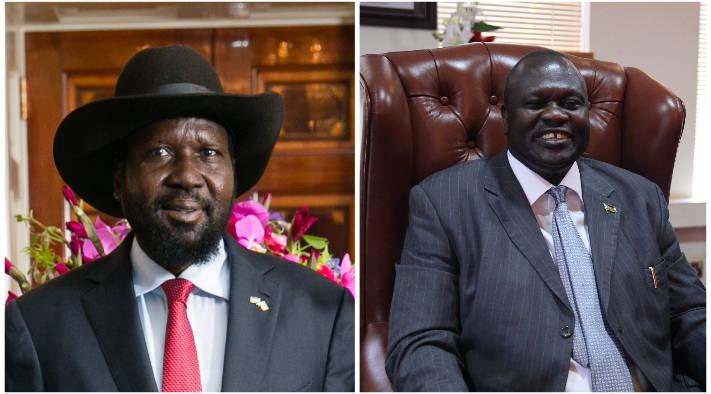 Salva Kiir, left, and Riek Machar, right. (Photos: U.S. Department of State and VOA, Hannah McNeish)