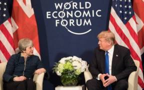 President Donald Trump meeting with U.K. Prime Minister Theresa May at the World Economic Forum in Davos, Switzerland. Date: January 25, 2018. (Photo: Shealah Craighead, Wite House)