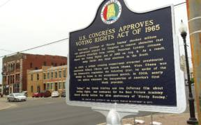 Public Plaque on Voting Rights Act - Selma - Alabama