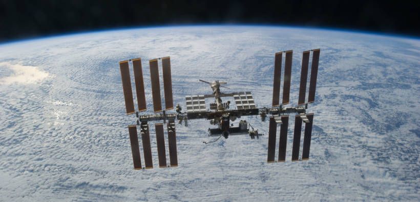 The International Space Station as seen from the U.S. space shuttle Discovery in 2011. (Photo: NASA)