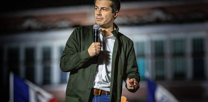 Pete Buttigieg talks a good game. In his call for unity evocative of Barack Obama's candidacy (and devoid of a signature policy), however, he's taking a page out of a failed playbook and ignoring the extent of the country's political polarization. (Photo Credit: CC BY 2.0)