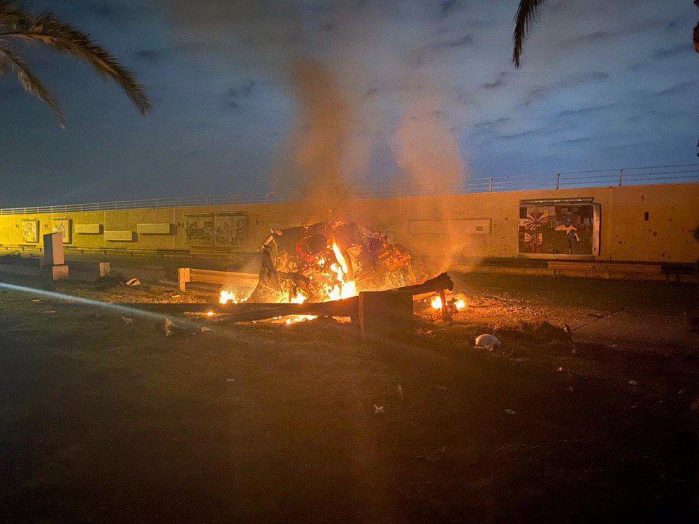 aftermath of US airstrike on Gen. Qassem Soleimani and Abu Mahdi Al Mohendis - Baghdad