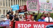 A 2015 No War With Iran protest in Washington D.C.