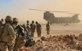 U.S. Soldiers during an aerial response force live-fire training exercise in Iraq, Oct. 31, 2018. (Photo: U.S. Army)