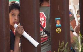 Border Wall from the US Side - Nogales, Arizona, USA. (Photo: Peg Hunter)