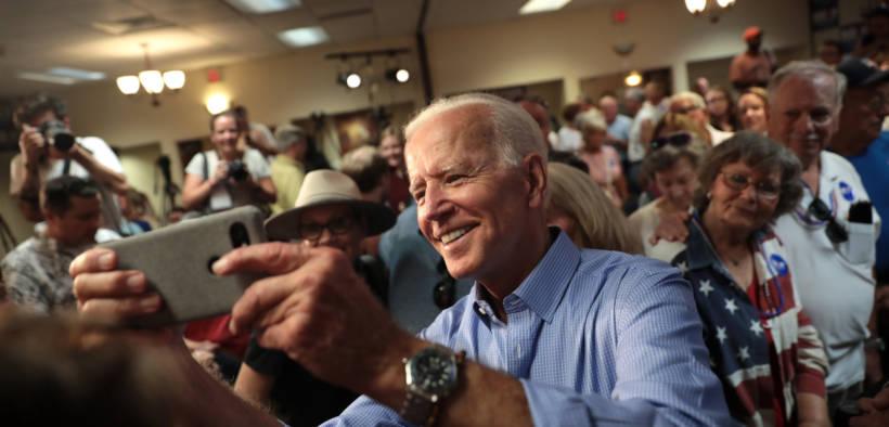 Joe Biden with campaign rally