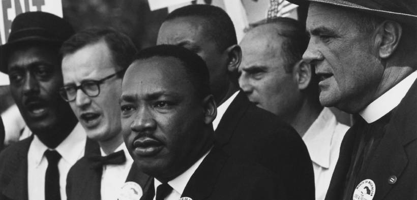 Marin Luther King Jr at the 1963 Civil Rights March in Washington, D.C.
