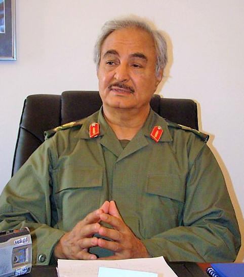 General Khalifa Haftar in 2011. (Photo: Magharebia, Flickr)