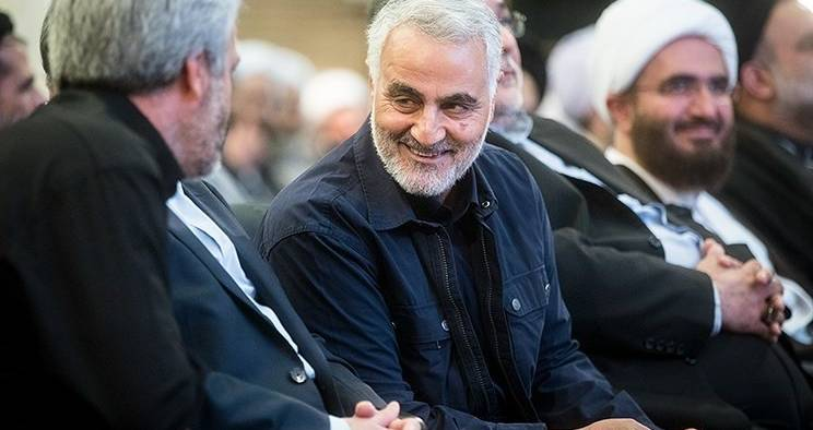 Major General Qassem Soleimani at the International Day of Mosque in 2017.