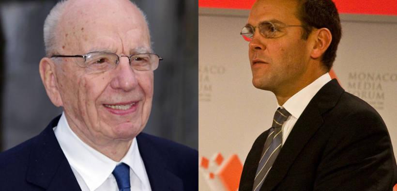 Rupert Murdoch and his son James Murdoch