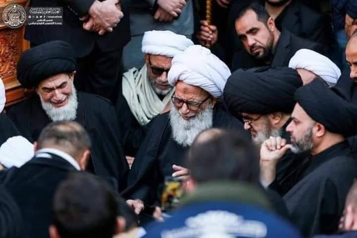 Shia religious authorities gather in Najaf to mourn Ge. Soleimani and Al Mohendis