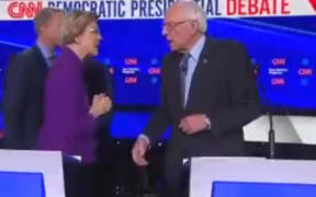 Senators Elizabeth Warren Bernie Sanders