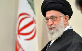Supreme Leader of Iran Ali Khamenei ahead of a summit in 2015.