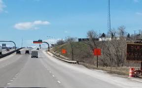 SOCIAL DISTANCE DRIVING sign at The I 25 Gap project Castle Rock CO