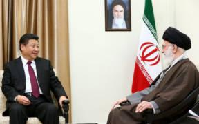 Ali Khamenei receives Xi Jinping in his house 7