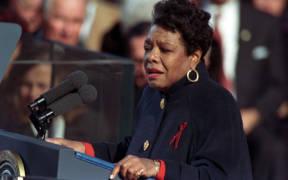 Angelou at Clinton inauguration