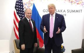 Vladimir Putin and Donald Trump 2019 06 28 03