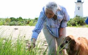 Jane Goodall enjoying a wetland walk with friend