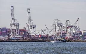 Shipping docks in Baltimore