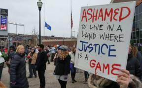 Black Lives Matter protest outside TCF Stadium 15942879476
