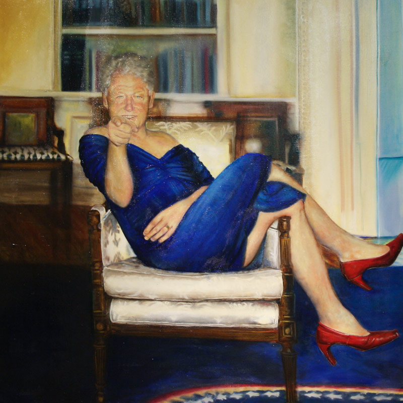 Epstien Clinton Painting