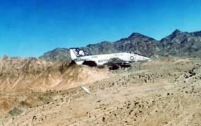 F 4N VMFA 531 dropping napalm 1982