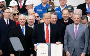 President Trump at the Signing Ceremony for the USMCA 49461461201