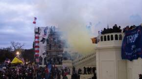 Tear Gas outside United States Capitol 20210106