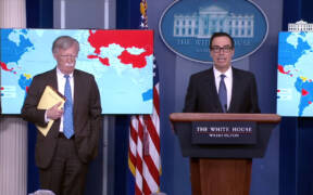 Mnuchin and Bolton announced sanctions against PDVSA