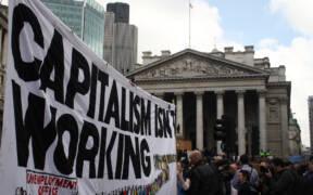G20 capitalism banner