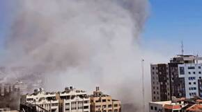 Israeli Air Force bombed the press offices in Gaza 2021 cropped