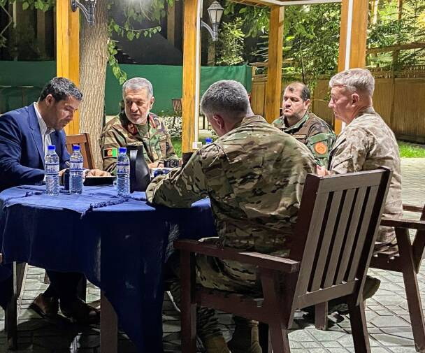 Leaders discuss the security situation in Afghanistan